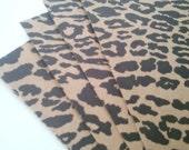 wild kraft and black leopard print cardstock paper sheets