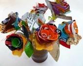 Upcycled Half-Dozen Flower Bouquet