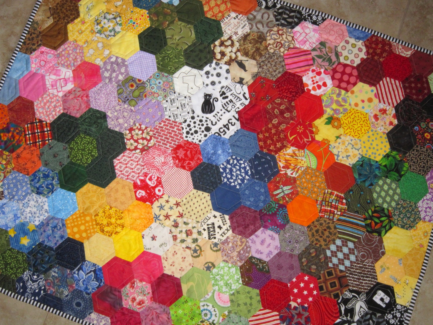 Modern Grandmas Flower Garden Quilt From Quilts By Elena