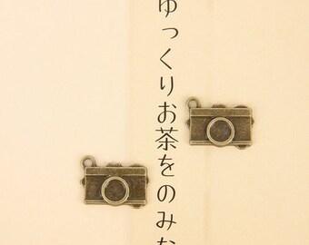 5pcs 13x16mm antique bronze camera charms pendants (J25)