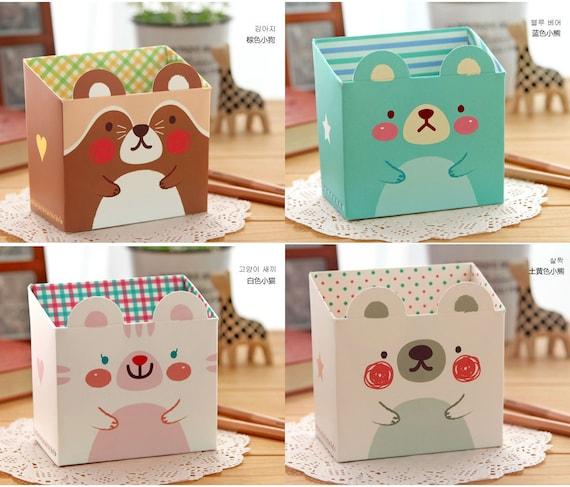 Easy DIY Set of 4 Mini Zoo Zoo Pencil Cases or Storage Boxes (P176)
