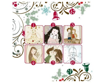 Merry Christmas Cards, Holiday cards 4x6 - Choose Your Own Any Four (4) Single Christmas Cards for the Price of 3