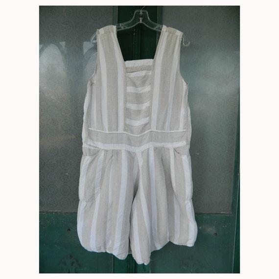 Angelheart Designs Linen Wide Stripe Sunsuit