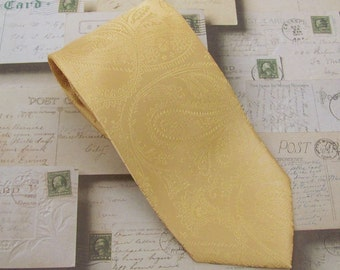 Necktie Dusty Gold Paisley Mens Tie