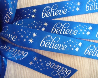 Believe Ribbon - Choose Your Color - 100 yards