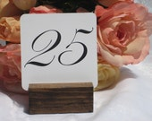 Table Number Holder + Rustic Wedding Chic Table Sign Holder + Rustic table number holder-Set of 20