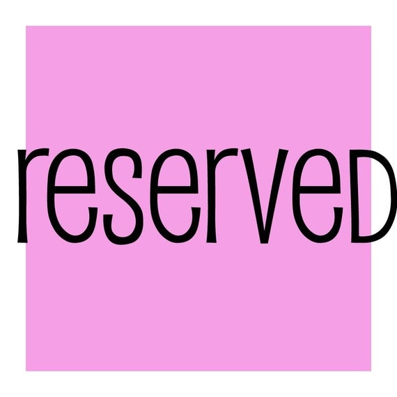 reserved for cmcynthiamoore