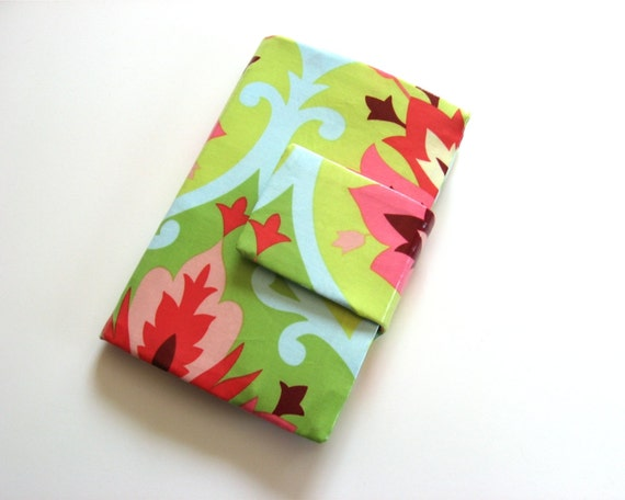 Kindle Fire e-reader Cover Stand in Coated Cotton Made to Order