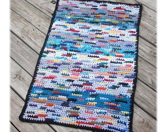 Rectangle Rag Rug Made With T Yarn Multi Color Floor Mat