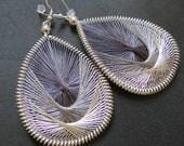 STARLIGHT- thread woven earrings by Funky Lobez