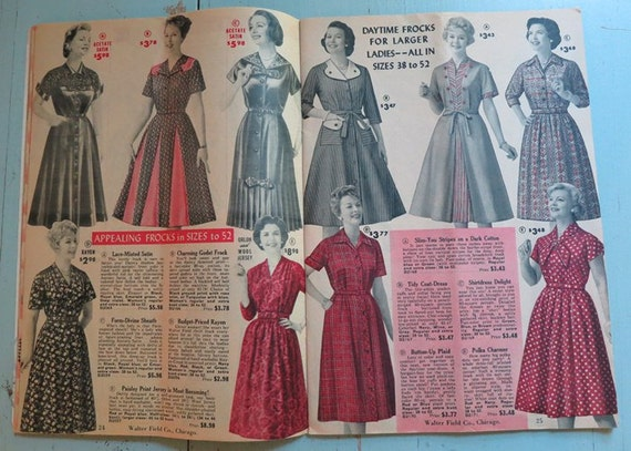 1960 Walter Field Mail Order Catalog Vintage Clothing