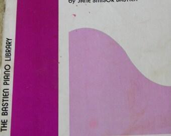 Vintage Piano Sheet Music, The Bastien Piano Library, 1976