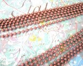4 Antique Copper Ball Chains Necklaces 24 inches