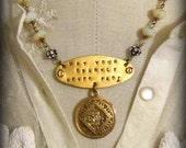 Reserved for Annie ...May Your Sparkle Never Fade - Urban, Gypsy, Inspired, French, Antique, Inspired- Vintage Statement Necklace