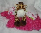 Security Blanket - lovie - woobie - luvi - Giraffe - Lovems