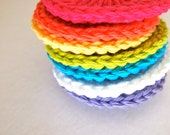 Crochet face scrubbies, cotton facial pad, colorful cotton scrubbie, reusable facial pads