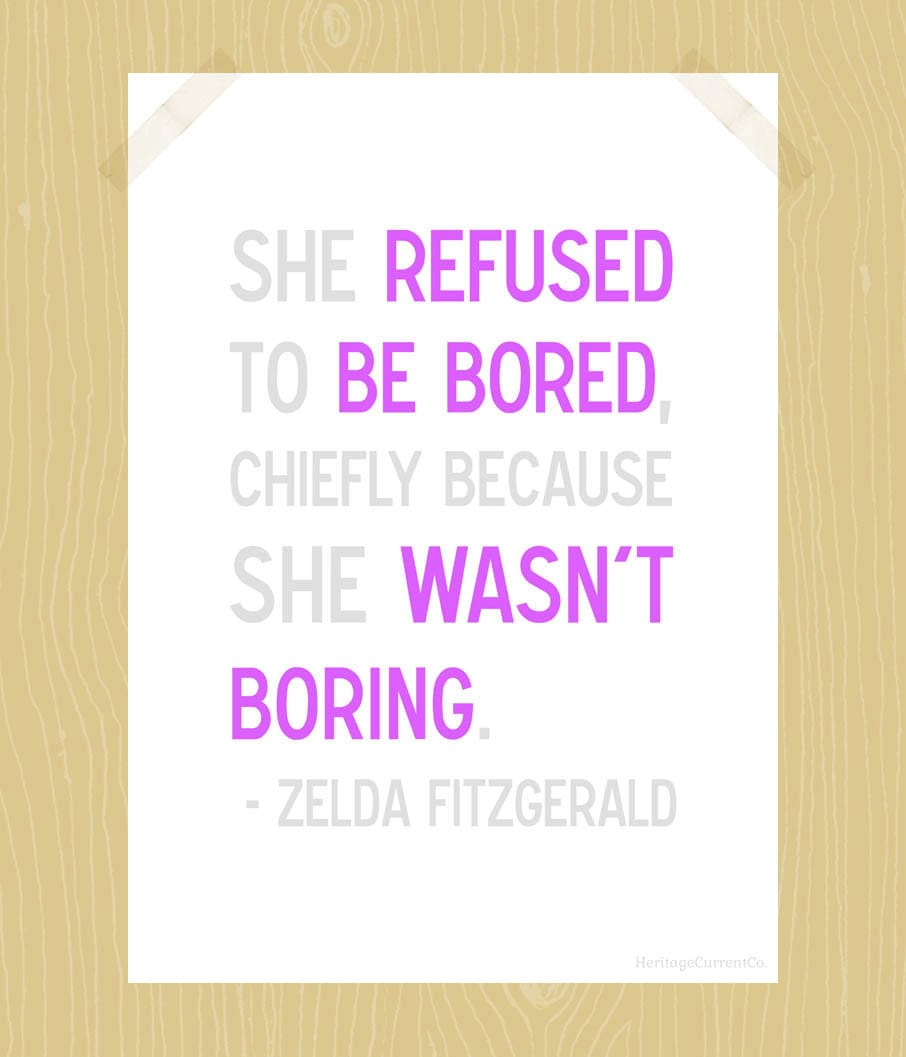 Boring Wives Quites: Printable Printable She Refused To Be Bored 5 By