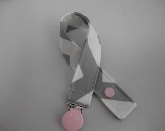 Chevron Paci Clip in Gray .. You choose Clip Color