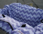 Shopping Cart cover for girl.....Large Chevron in Lavender Shopping Cart Cover for twins