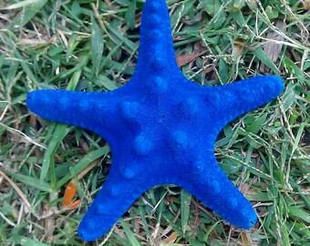 Blue, Starfish, Blue Starfish, Mermaid, Star, Halloween, Ready to ship,Starfish barrette,Blue barrette, hair clip