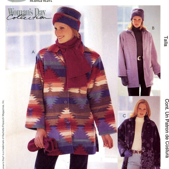 McCalls P487 Jacket Hat Scarf and Mittens Size 16 18 20 22 24 26 Uncut Sewing Pattern 2000