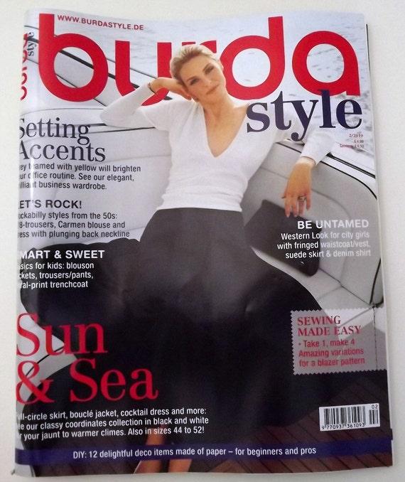Burda Style Sewing Pattern 2/2010 Edition English