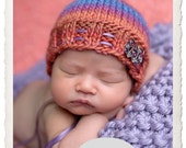Newborn Rounded Back Bonnet Knitting Pattern, PDF Number 136 -- INSTANT DOWNLOAD -- Permission to Sell Hats -- Over 16,000 patterns sold