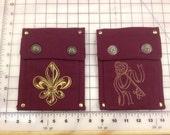 Immediate Ship- Burgundy Single Pockets