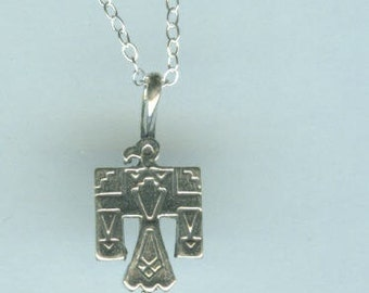 Sterling THUNDERBIRD  Pendant with Chain -  Native American