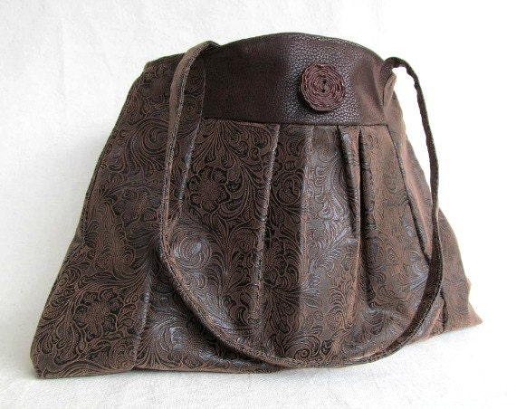 COSMOPOLITAN HANDBAG //  Faux Leather Bag //  Large Handbag