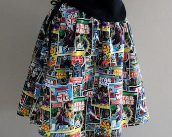 Womens Geek Clothing, Geekery, Star Wars, Star Wars Novelty Skirt, Star Wars Clothing, TinTiara Clothing, Tintiara Skirts