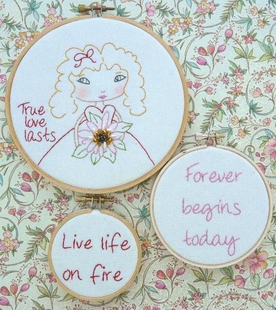 True love last girl embroidery pattern pdf hoops stitchery
