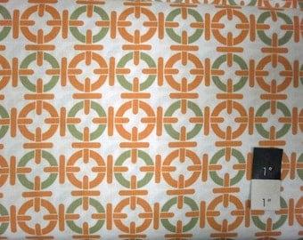 Annette Tatum AT55 Mod Chain Link Papaya Cotton Fabric 1 Yard