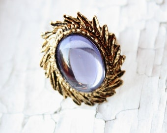 Blue Moon Gold Tone Vintage Set Ring