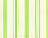 DeStash SALE - Ticking  Stripe/Green by Tanya Whelan - Darla Collection - One Yard