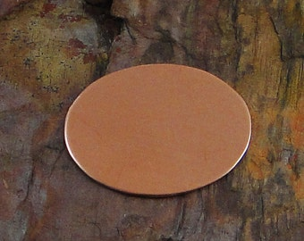 "5 Deburred 24G Copper 1 1/2"" inch X 1 1/8""  40mm x 30mm OVAL Stamping Blanks"