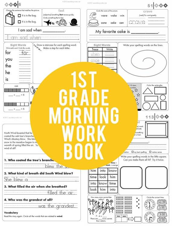 1st Grade Common Core Morning Work Book