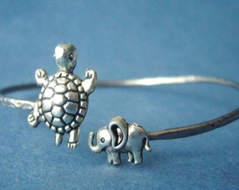 turtle bracelet with an elephant wrap style