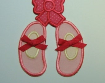 Ballet Shoes Embroidered Applique-100255