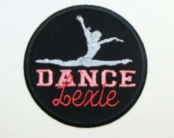 Dance Bag Embroidered Applique Patch Personalized-100006