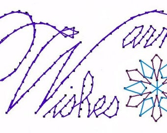 Winter Warm Wishes Paper Embroidery Pattern for Greeting Cards