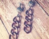 Rose Gold Chain Earrings