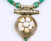 Nepalese Gau Look w/Sacred Chank and Turquoise