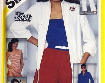 Vintage 80's Sewing Pattern, Pants and Shorts, Tube Top, Size 12