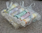 Lip Balm Gift Set of 6 Lip Balms - You Choose Your Flavors