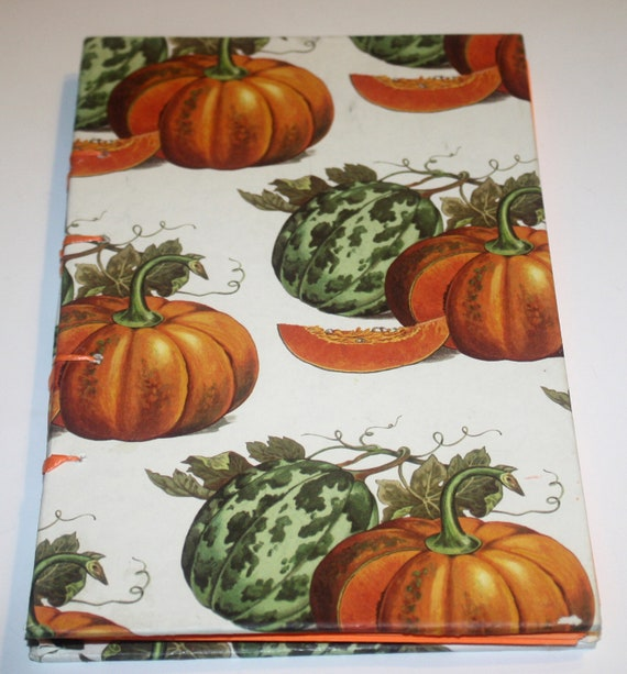 Pumpkin Harvest Coptic Stitch Journal