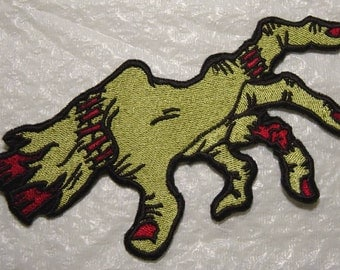 Creepy ZOMBIE HAND - Iron on Applique Patch - 2 Sizes Available - FREE Shipping