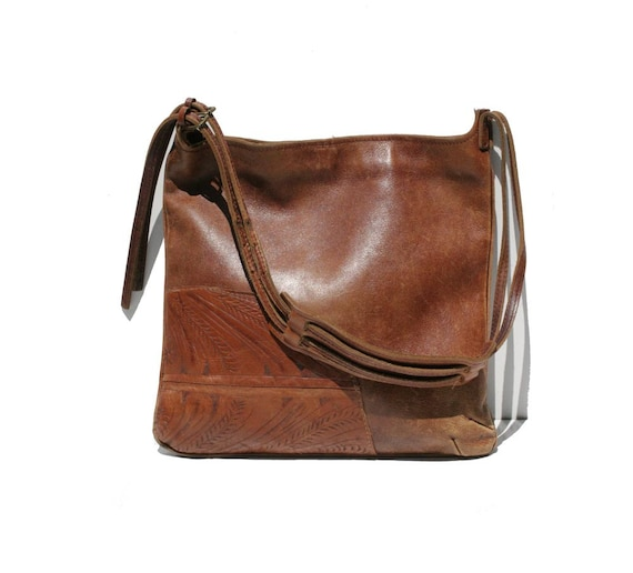Vintage Rugged Leather Shoulder Bag