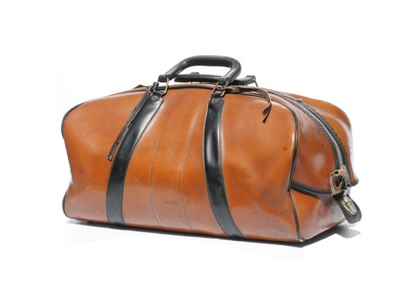 Vintage Brown Weekend Travel Duffel Bag
