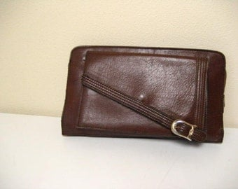 Vintage Leather Clutch Style Purse